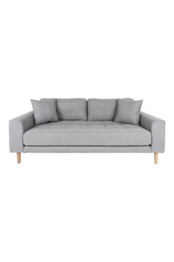 House Nordic - Lido 2 személyes kanapé, Világosszürke